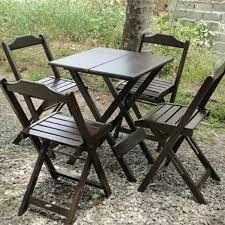 Conjunto de Mesa e Cadeiras Dobráveis