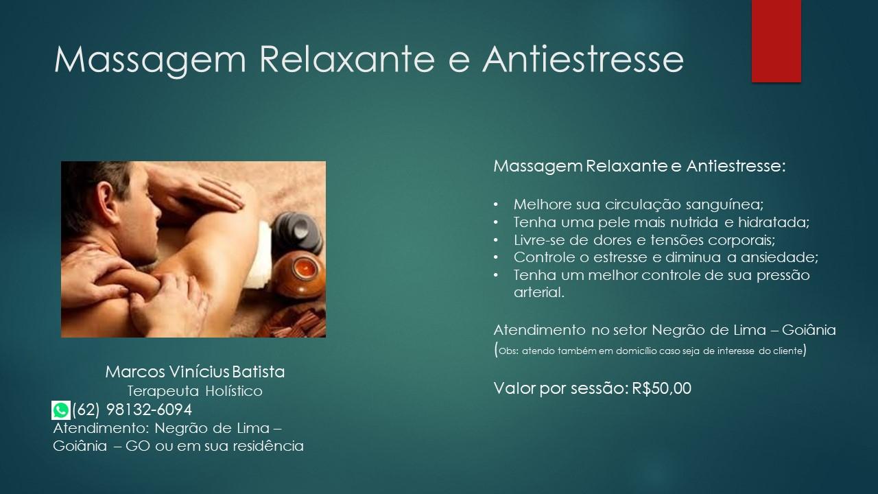 Massagem Relaxante e Antiestresse