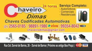 CHAVEIRO DIMAS 24 HORAS